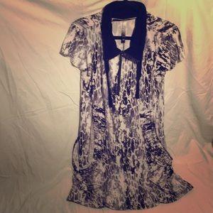 Kensie Giraffe Print B&W Dress